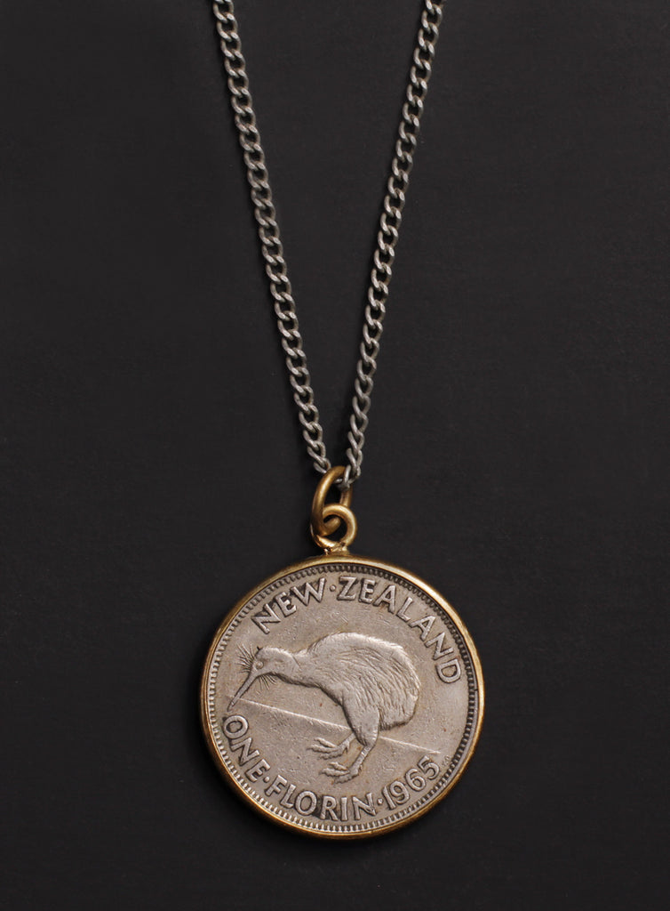 Vintage 1965 New Zealand coin necklace