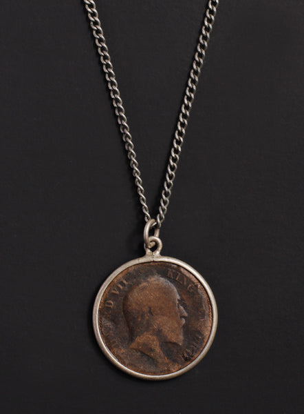 Vintage 1908 India coin necklace