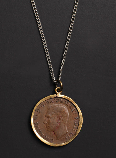 vintage 1950 australia coin necklace we are all smith