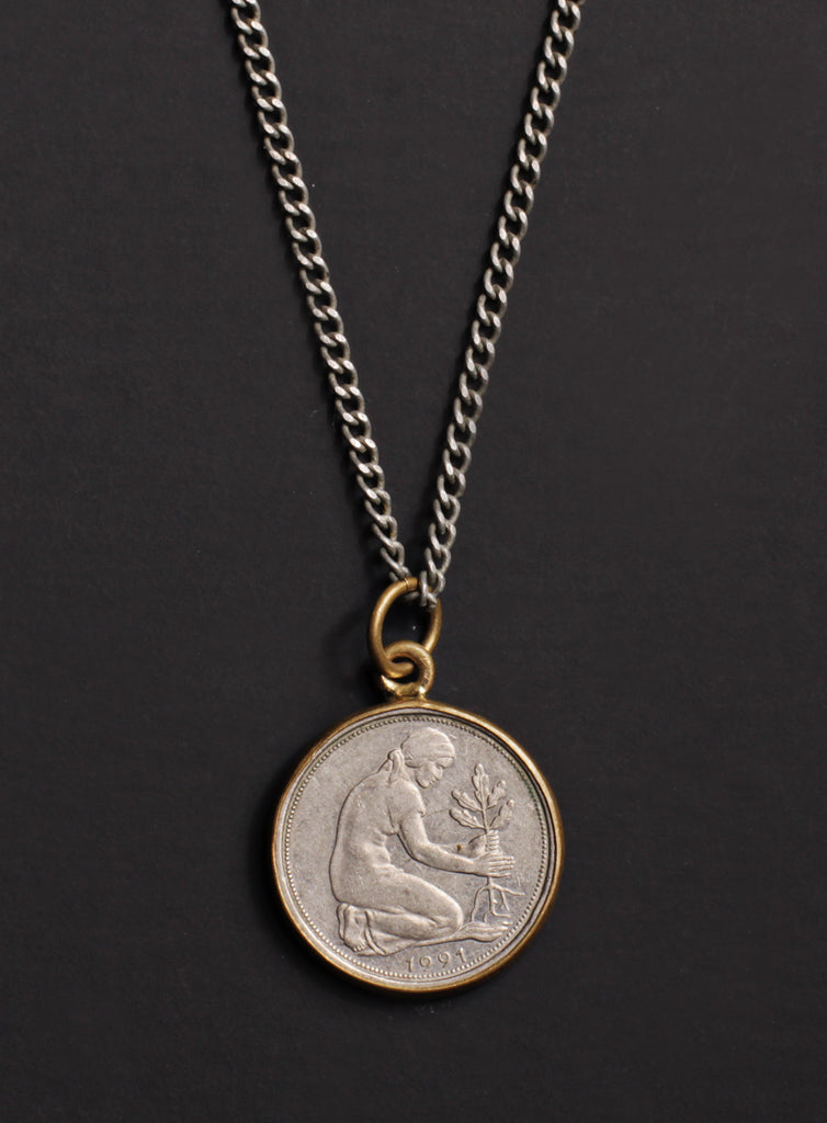 Vintage 1991 Germany coin necklace