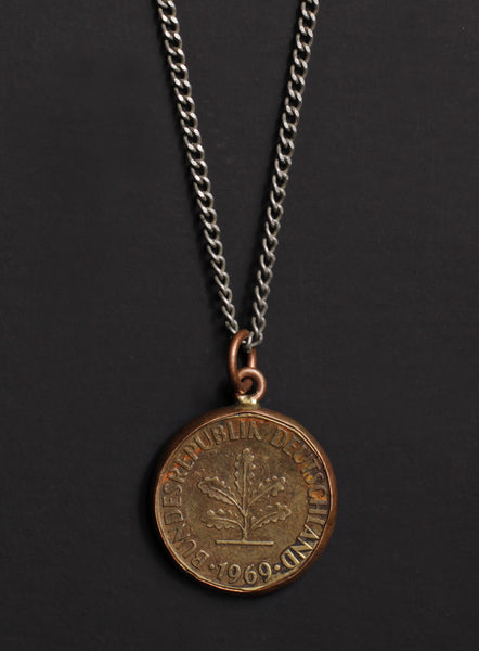 Vintage 1969 Germany coin necklace