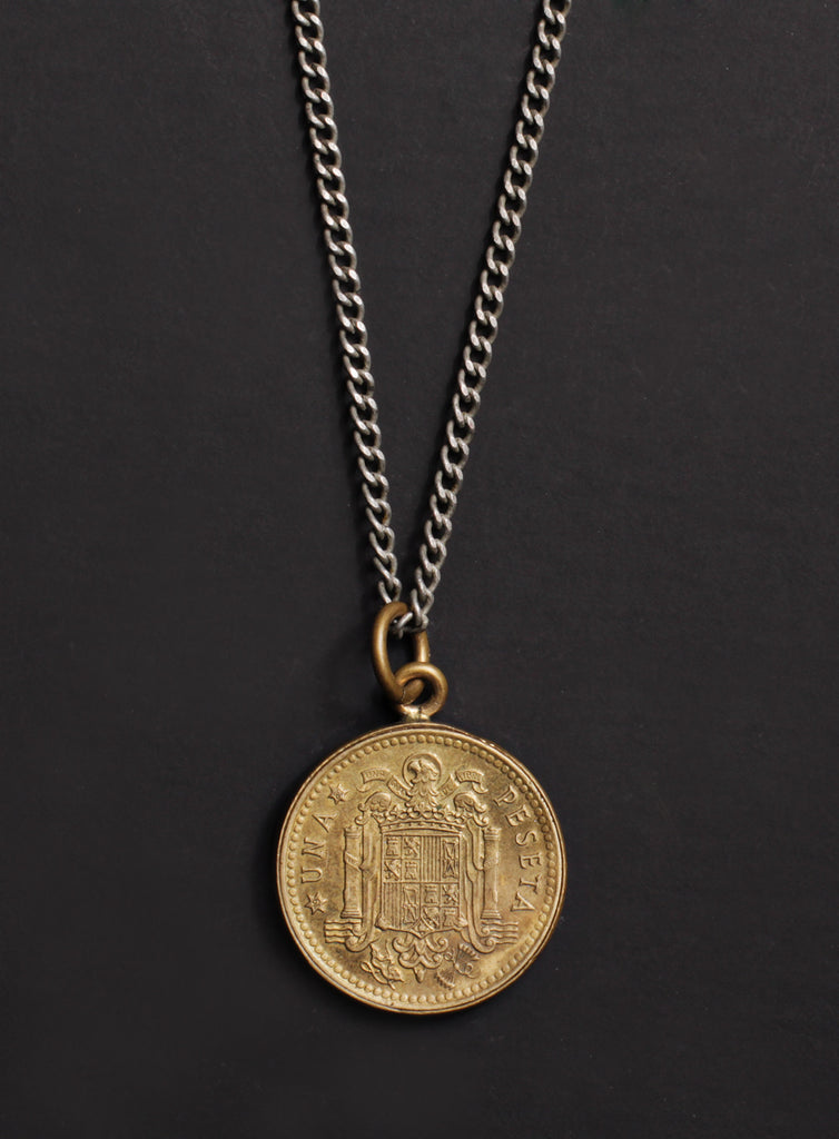 Vintage 1975 Spain coin necklace