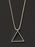 Sterling Silver Box Chain / Triangle Pendant Necklace for Men