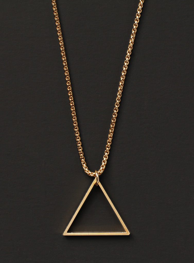 gold box chain triangle necklace for men � we are all