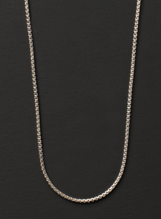 Sterling Silver Box Chain Necklace for Men