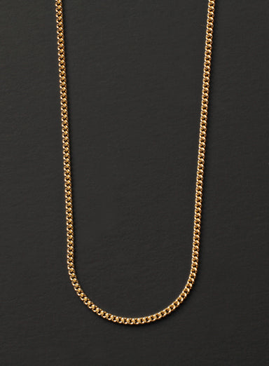 Gold Curb Chain Necklace for Men