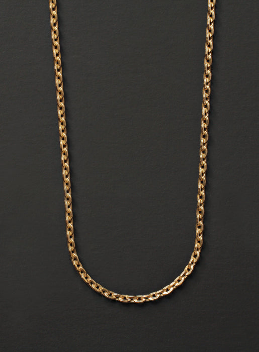 Gold Cable Chain Necklace for Men