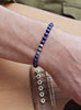Sterling Silver and Lapiz Lazuli Bead Bracelet for men