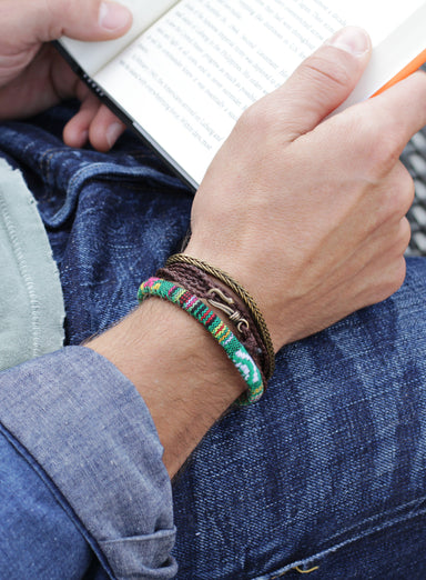 "California ""Point Dume"" Men's Cord Bracelet"