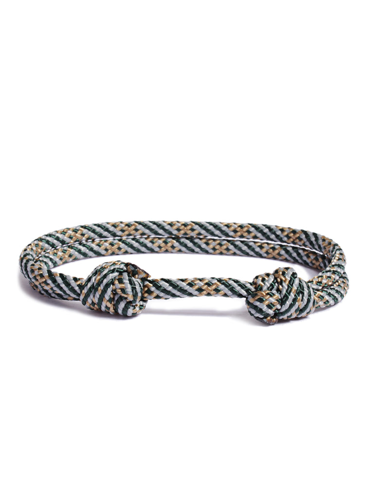 """Fuselage"" Double Knot Cord Bracelet for Men"