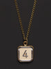 "Number 4 pendant ""Puzzle Piece"" Men's Necklace"