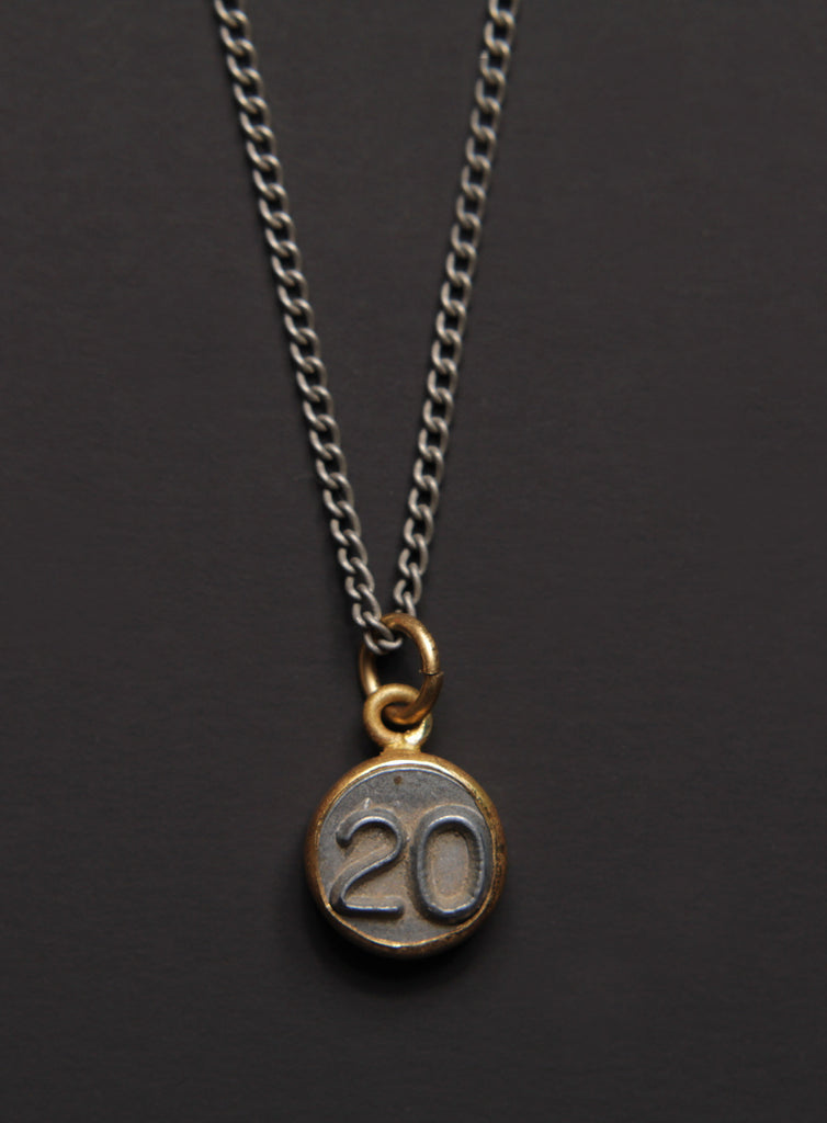 Number 20 pendant Men's Necklace