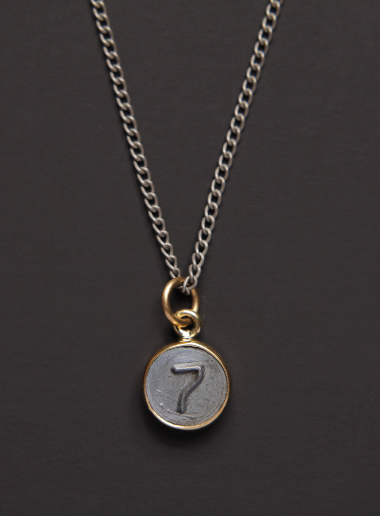 Number 7 pendant Men's Necklace