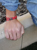 """Quarterdeck"" Red + Gunmetal Tactical Cord Bracelet"
