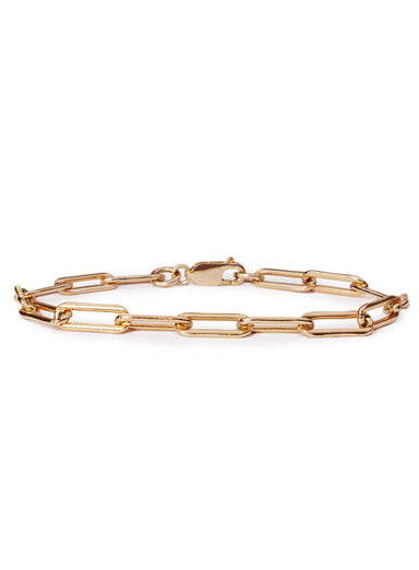 14k Gold filled thick cable chain bracelet for men