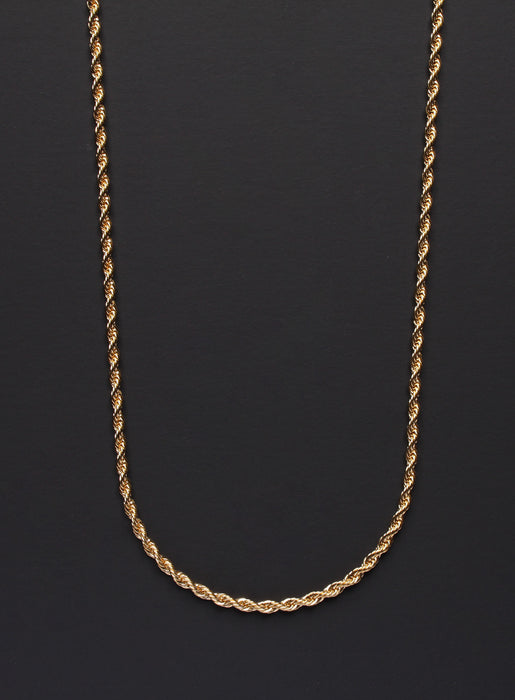 Gold Rope Chain Necklace for Men