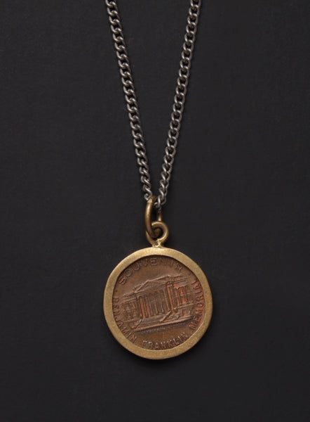 vintage benjamin franklin coin necklace we are all smith