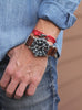 Red + Black Tactical Cord Men's Bracelet