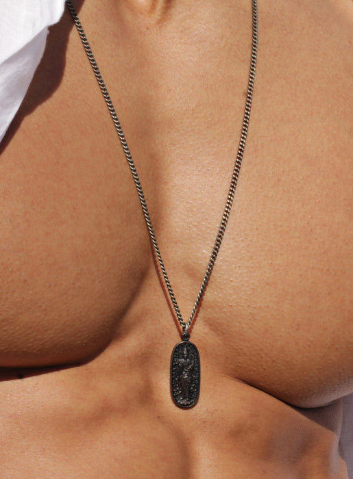 Men's Black Buddha Necklace No. 4