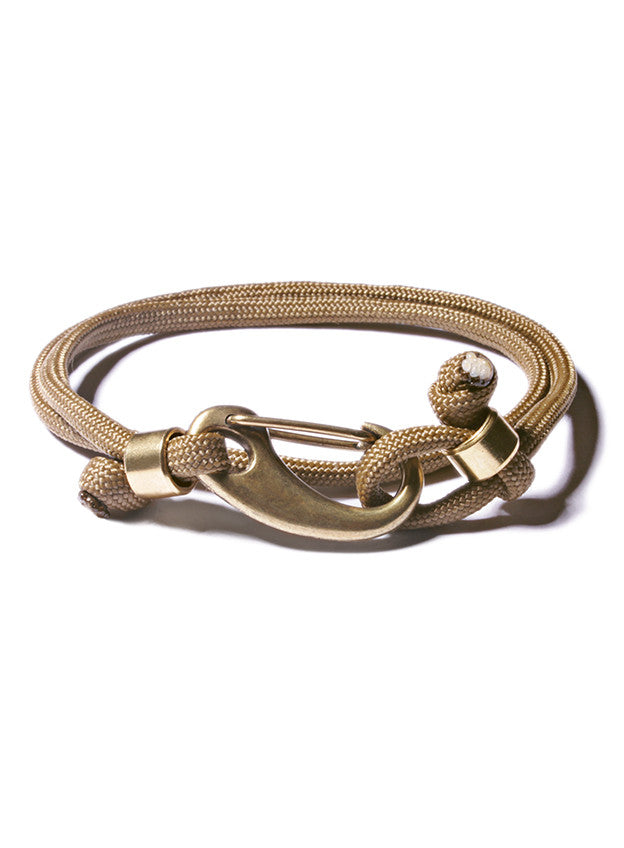 Olive and Brass Paracord Bracelet