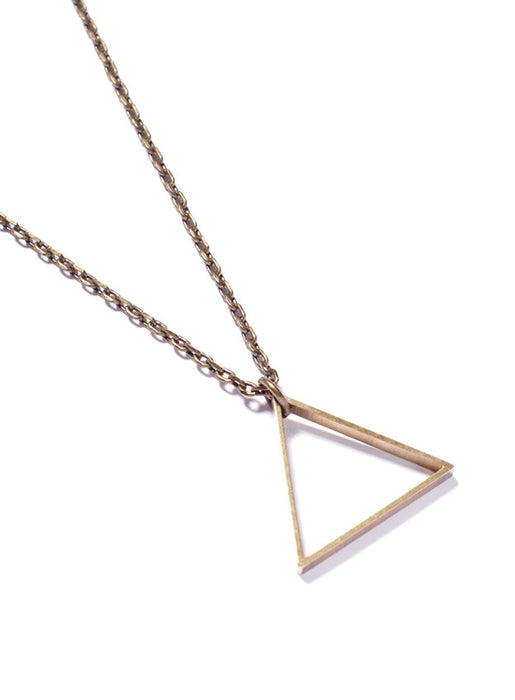 Triangle necklace for men