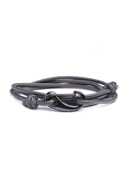 """Seal"" Slate Gray + Gun Metal Tactical Cord Bracelet"