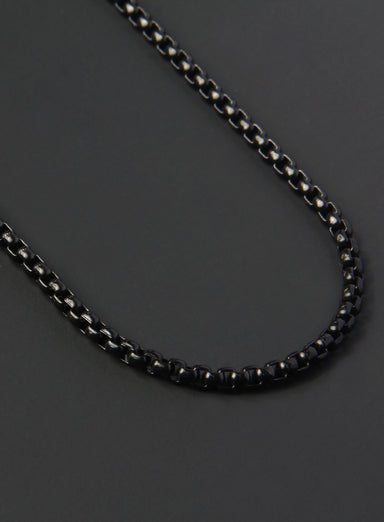 Black Stainless Steel Chain Necklace for Men