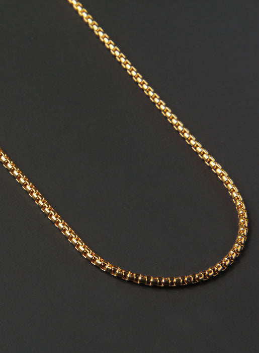 Stainless Steel (Gold Plated) Chain Necklace for Men