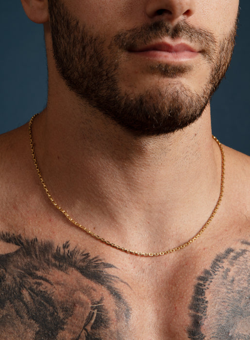 14K Gold Filled Cable Chain Necklace for Men
