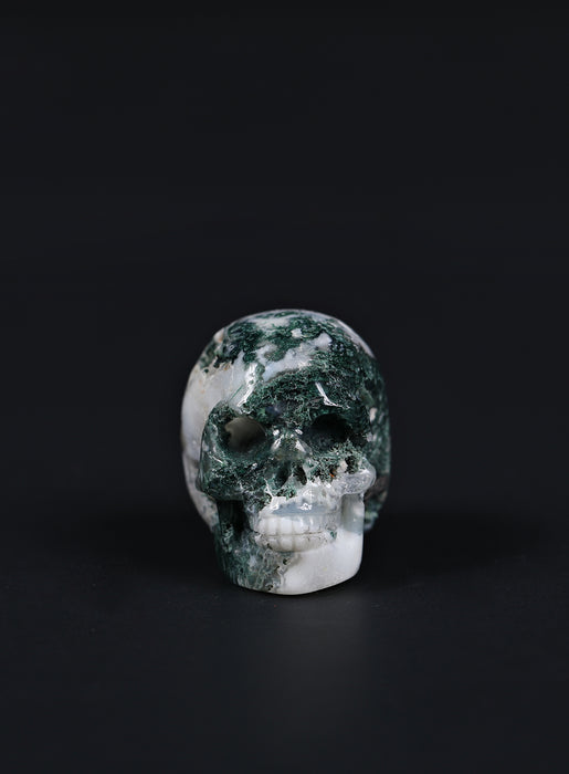 Small Moss Agate skull