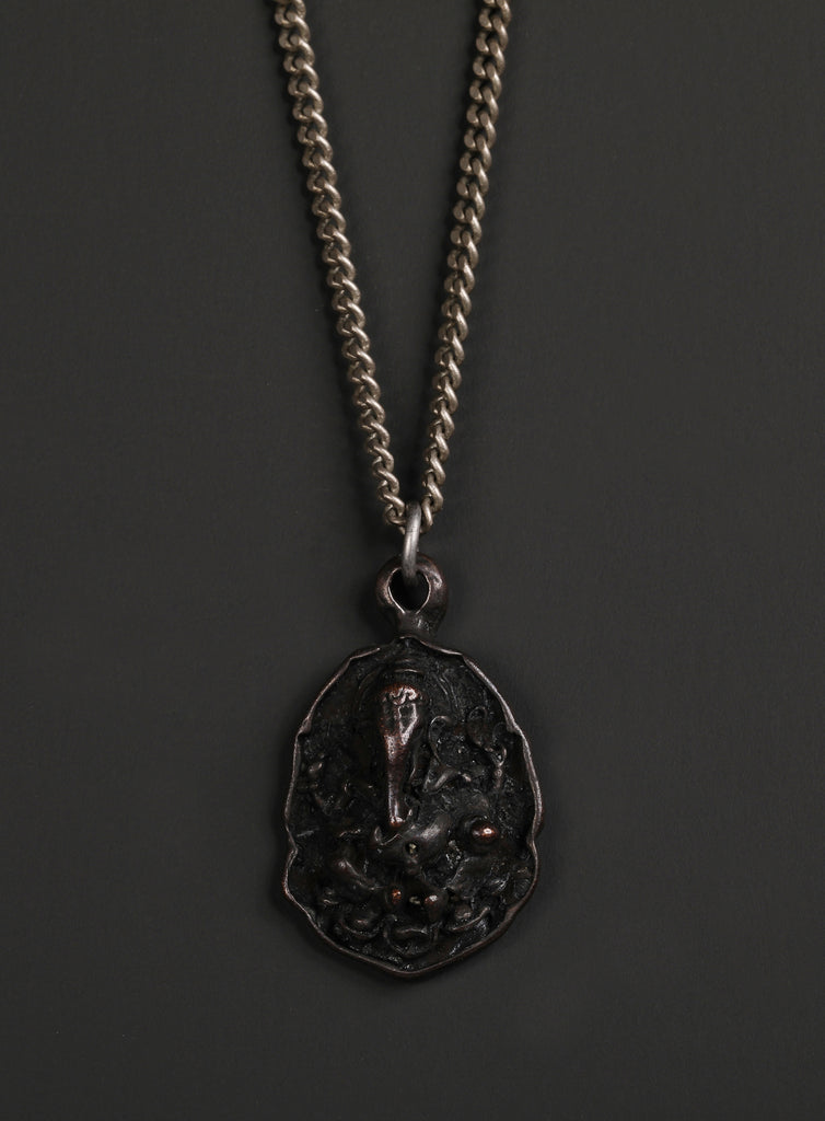 Men's Black Ganesh Om Necklace No. 2