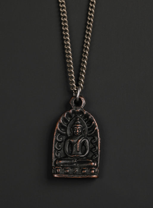 Men's Black Buddha Necklace No. 5