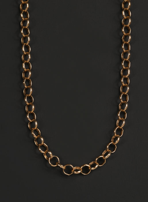 Men's Gold Chain Necklace (14k Gold Filled Rolo Chain)