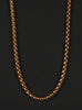 5mm Gold Round Box Chain Necklace for Men.
