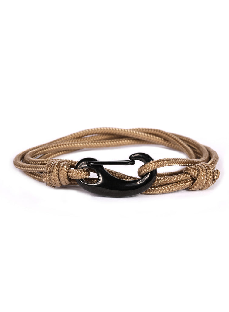 Taupe + Black Tactical Cord Men's Bracelet