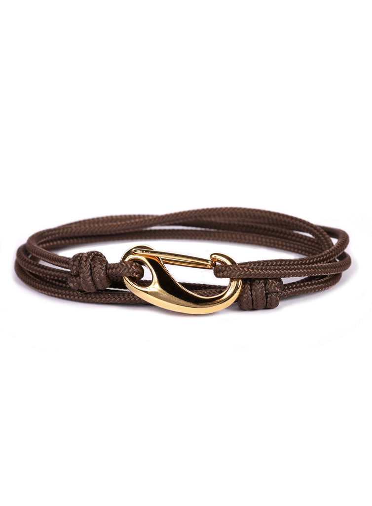 Brown + Gold Tactical Cord Men's Bracelet