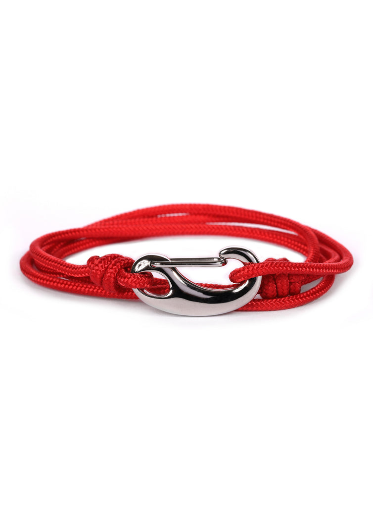 Red + Silver Tactical Cord Men's Bracelet