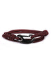 Maroon + Black Tactical Cord Men's Bracelet