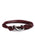 Maroon + Silver Tactical Cord Men's Bracelet