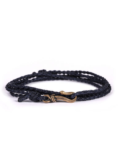 Navy Blue Rope Men's Bracelet