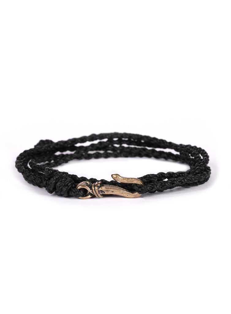 Black Rope Men's Bracelet