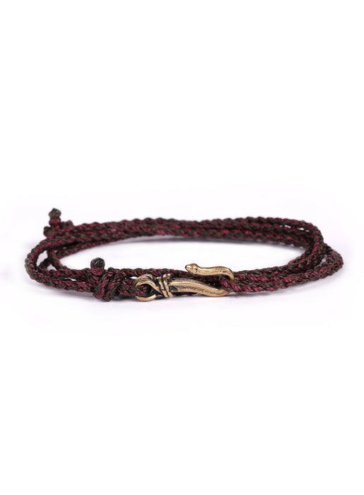 Brown + Maroon Rope Men's Bracelet
