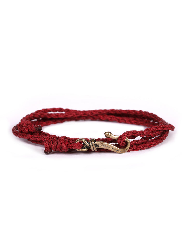 Red Braided Rope Men's Bracelet