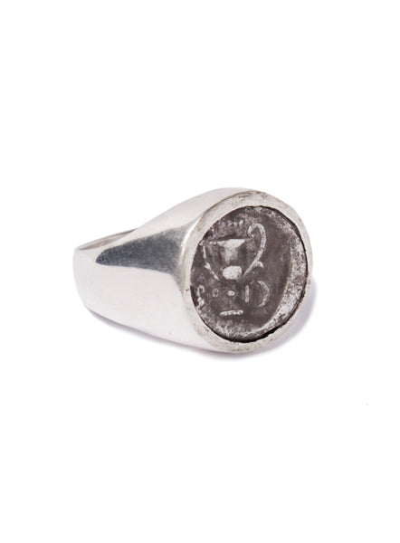 Ancient Greece Thebes Silver Ring for Men