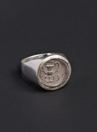 Ancient Greece Thebes Men's Silver Ring