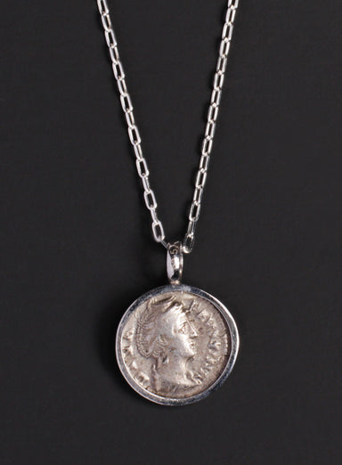 Faustina and Ceres Silver Necklace for Men