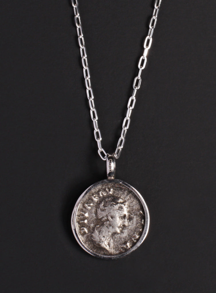 Faustina Silver Necklace for Men