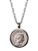 Elagabalus Emperor Silver Necklace for Men