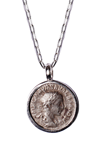 Severus Alexander and Salus Silver Necklace for Men