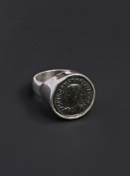 Constantius the Second Silver Ring for Men
